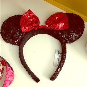 ❤️🖤Disney Park Minnie Mouse ears